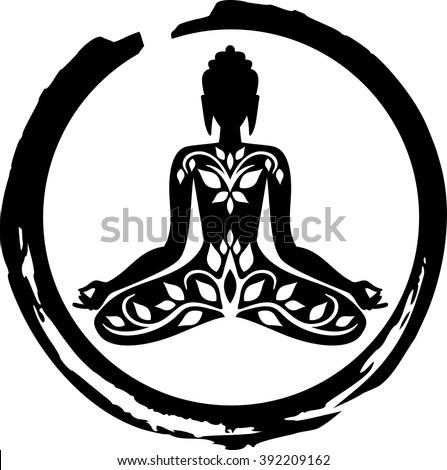 Buddha Symbol Stock Vektorgrafik Lizenzfrei 392209162 Shutterstock