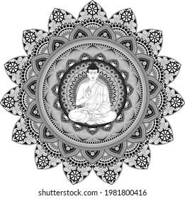 Buddhist decorative patterns, mandala design, intricate patterns