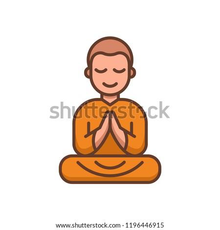 Buddhist monk in orange