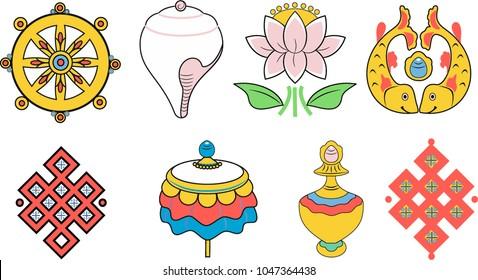 Buddhist Monk Symbol Images Stock Photos Vectors Shutterstock