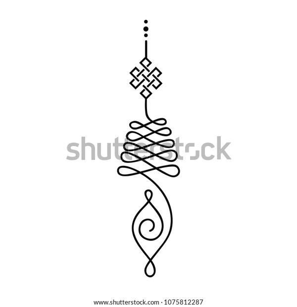 Buddhist Symbol Life Path Stock Vector (Royalty Free) 1075812287