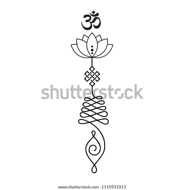 Buddhist Symbol Life Path Stock Vector (Royalty Free) 1110931013