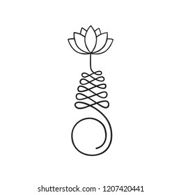 Buddhist symbol for life path with lotus flower