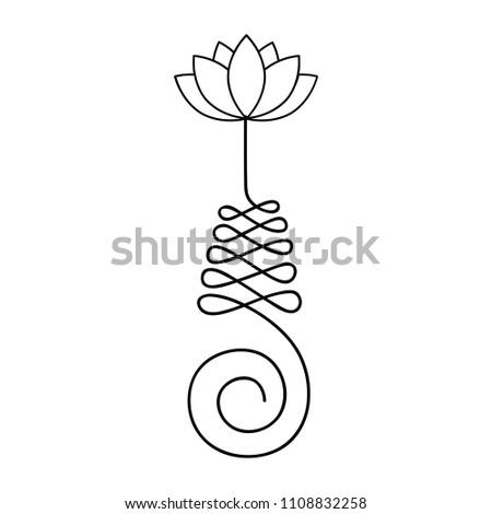 Buddhist symbol life path lotus flower stock vector royalty free buddhist symbol for life path with lotus flower mightylinksfo