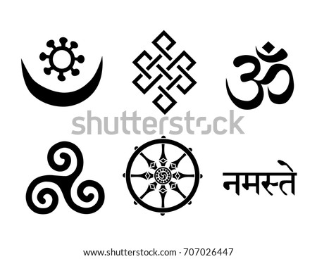 Buddhist Symbols You Can Use This Stock Vector Royalty Free