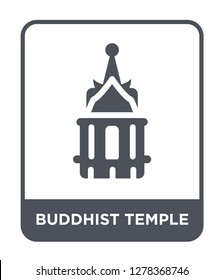 buddhist temple icon vector on white background, buddhist temple trendy filled icons from Buildings collection, buddhist temple vector illustration