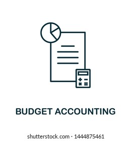 Budget Accounting outline icon. Thin line concept element from business management icons collection. Creative Budget Accounting icon for mobile apps and web usage.