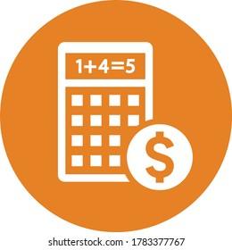 Budget Calculation icon / orange vector