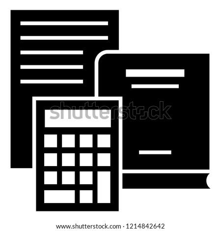 budget calculator icon simple illustration budget stock vector