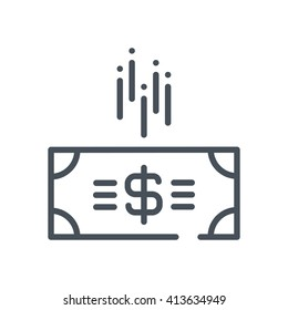 Budget cuts icon suitable for info graphics, websites and print media and  interfaces. Hand drawn style, pixel perfect line vector icon.