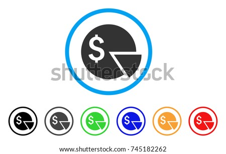 Budget Pie Chart Rounded Icon Style Stock Vector Royalty Free