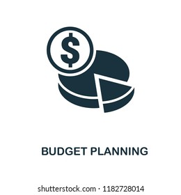 Budget Planning icon. Monochrome style design from smm collection. UI. Pixel perfect simple pictogram budget planning icon. Web design, apps, software, print usage.