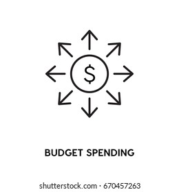 Budget Spending vector icon