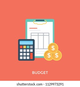 Budget visual, estimate of income and expenditure for a set period time