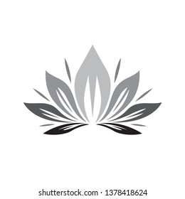 Budha flower and beauty logo