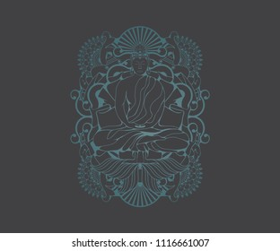 Budha graphic vector