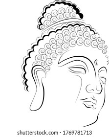 Budha head simplified art piece