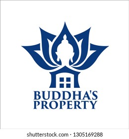 budha's property exclusive logo design inspiration