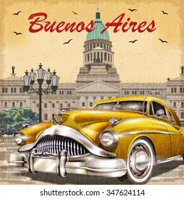Buenos Aires retro poster.