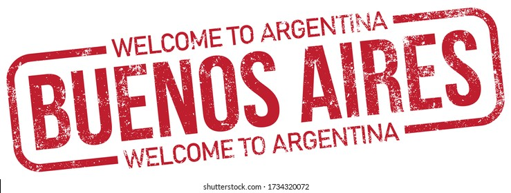 Buenos Aires. Welcome To Argentina, Vector Stamp.