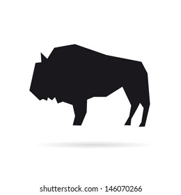 Buffalo abstract isolated on a white backgrounds