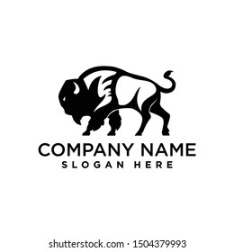 buffalo bull logo design template inspiration, vector illustration