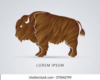 Buffalo designed using grunge brush graphic vector