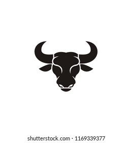 buffalo head logo, abstract bull head logo vector inspiration