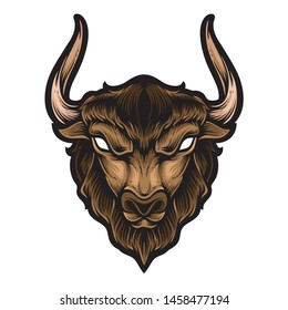 buffalo head vector and logo