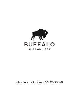 buffalo logo icon design vector