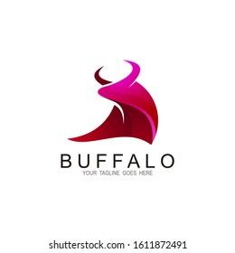Buffalo logo illustration premium vector