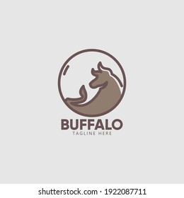 Buffalo logo premium template for your solid and unique brand