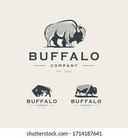 Buffalo logo template Premium Vector