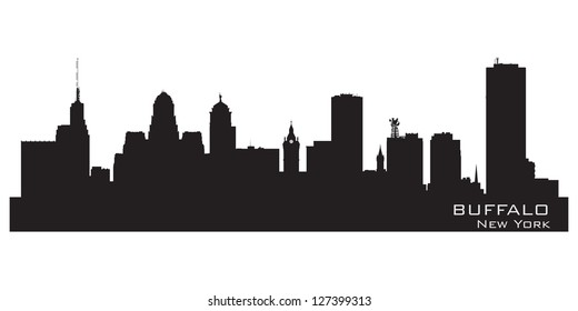 Buffalo, New York. Detailed city silhouette. Vector illustration