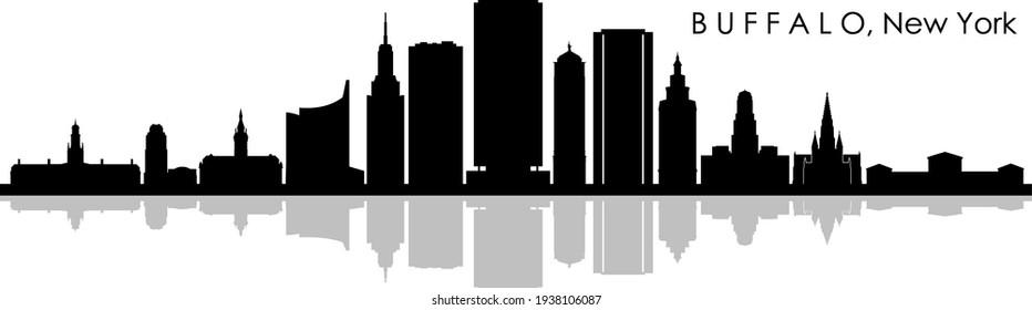 BUFFALO New York USA City Skyline Vector