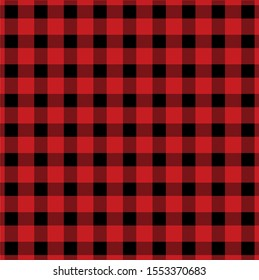Buffalo plaid lumberjack tartan seamless pattern in vector format.