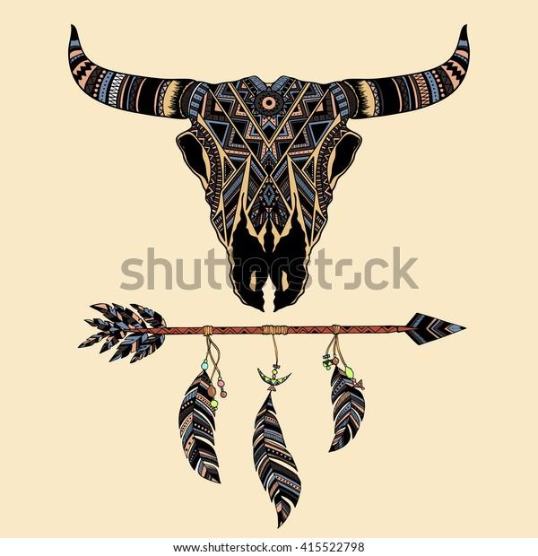Native Skull Totem