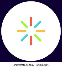 Buffering Icon Vector. Flat simple color symbol