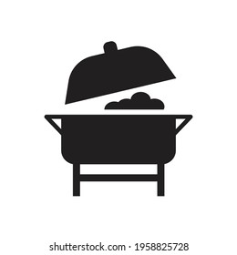 Buffet food catering icon design. vector illustration