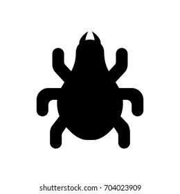 Bug icon ,black sign design