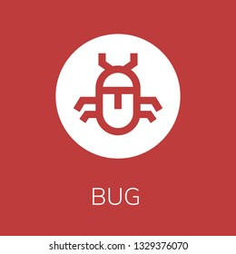 Bug icon. Editable  Bug icon for web or mobile.