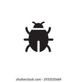 bug icon symbol sign vector