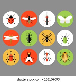 Bug and insect icons