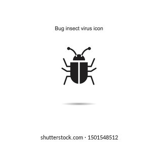 Bug insect virus icon design vector illustration graphic on background