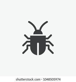 Bug Virus Hazard Vector Icon