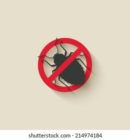 bug warning sign - vector illustration. eps 10