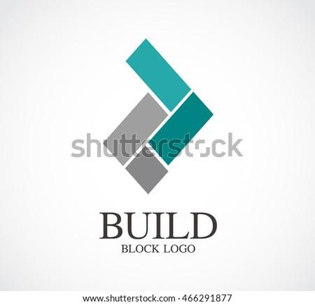 Build Block Architecture Logo Design Vector Stock Vector Royalty