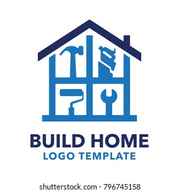 Build home logo for your construction company