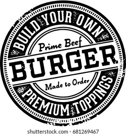 Build Your Own Burger Restaurant Sign