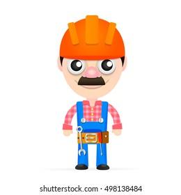 Builder in a helmet